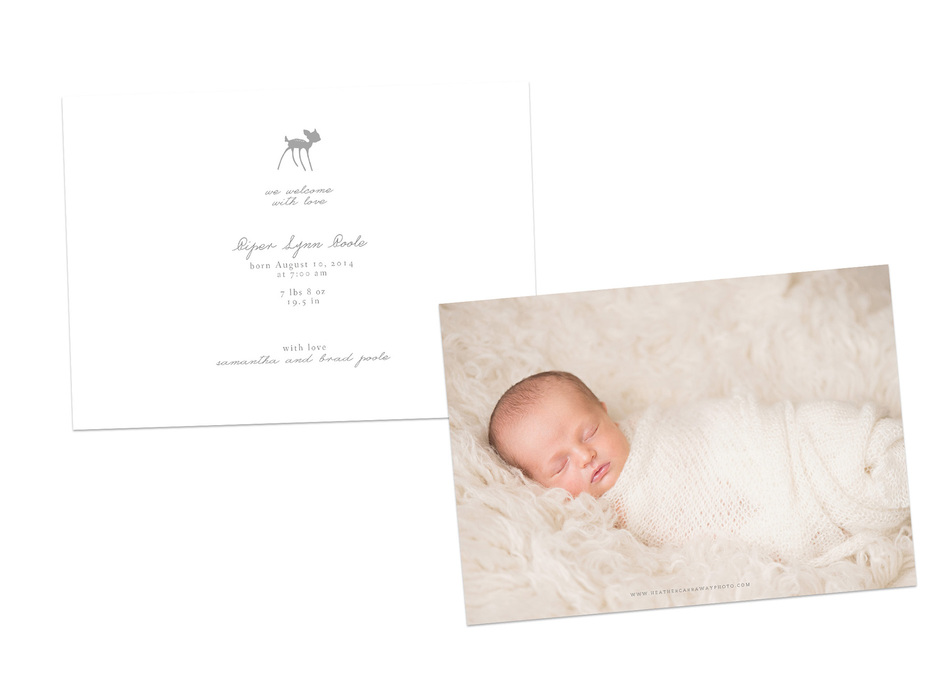 birth announcement sample girl 2